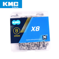 KMC X8 bicycle chain 8 speed 116 links with quick link ultralight 320g MTB mountain bike chain road 8 variable boxed