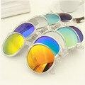 Nova tendência da moda de grife das mulheres redondas retro óculos de sol de cores senhoras de grandes dimensões legal do Vintage óculos grandes