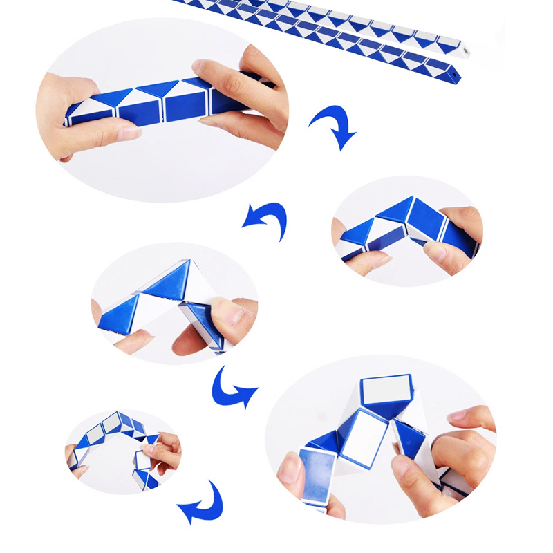 New 72 Sections Magic Ruler Snake Puzzle Children Education Toy Diy Imagination Game Toy Magic Cube For Kids Child Gift Puzzles & Games Magic Cubes