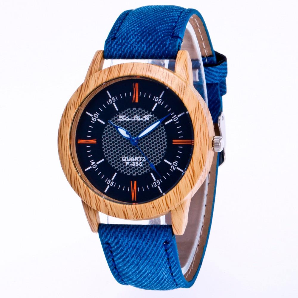Watches Wooden Bamboo Minimalist Clock Quartz Reloj Women Causal 30X Band Masculino Nature