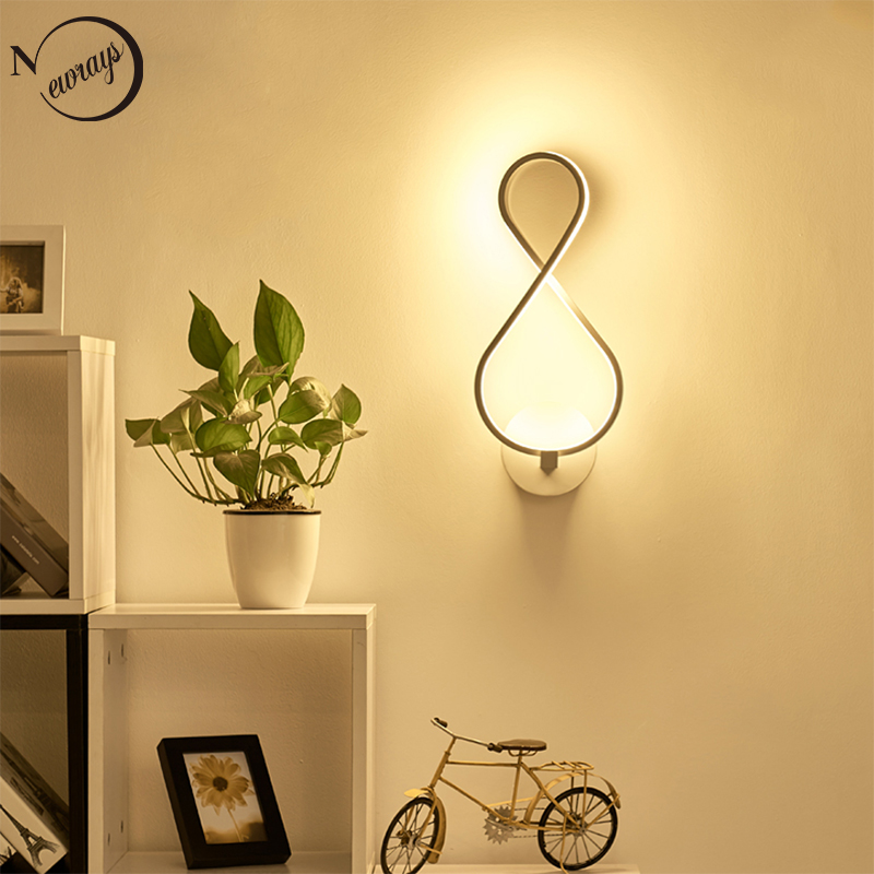 European Modern painted acrylic wall lamp LED 220V novelty art deco wall lights for living room bedroom restaurant hallway hotel