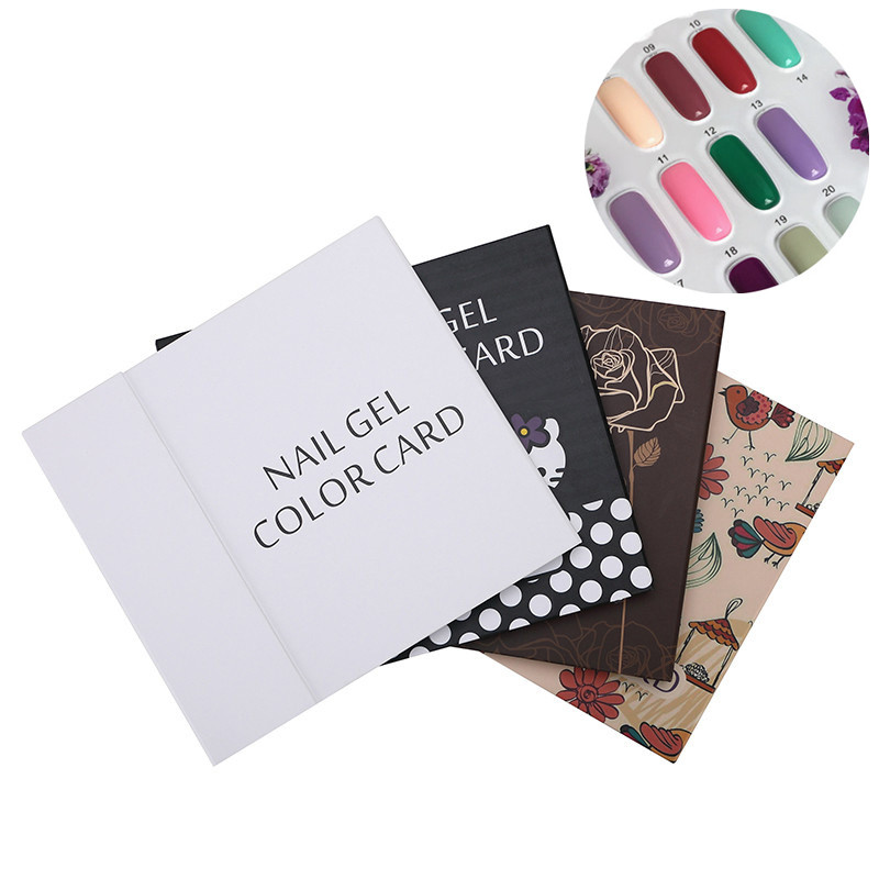 120 Colors UV Nail Gel Polish Nail Art Display Color Book Inlaid Chart Salon Acrylic Gel Tips Display Color Card Chart Painting image