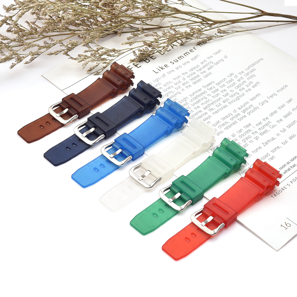 Clear TPU Watch BAND Strap Fits <font><b>DW</b></font>-5600E <font><b>DW</b></font>-<font><b>5700</b></font> G5600 <font><b>5700</b></font> GM-5610 Watchband Series And Tool image