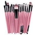 15 pcs pincéis de Maquiagem Profissional Sobrancelha Blush Foundation Cosméticos compo o jogo de escova Maquiagem