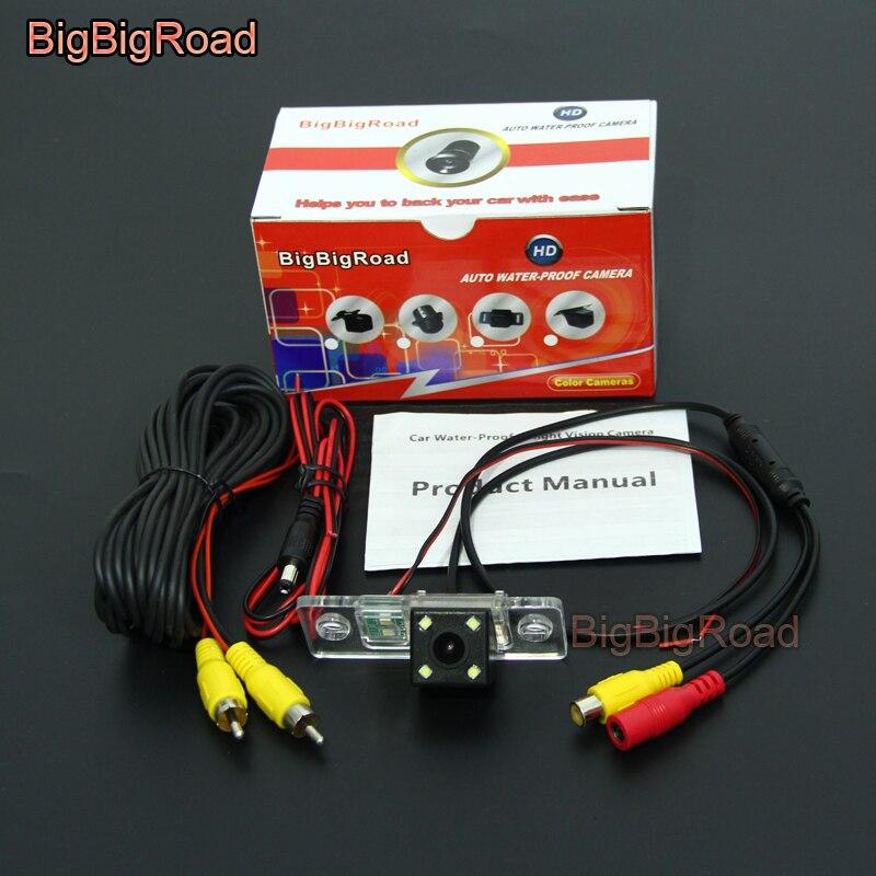 BigBigRoad Car Rear View Reverse Backup Parking Camera For Audi A8 A8L S8 D3 4E A3 S3 8L A4 RS4 8D 1995 -2004 2005 2006 2007