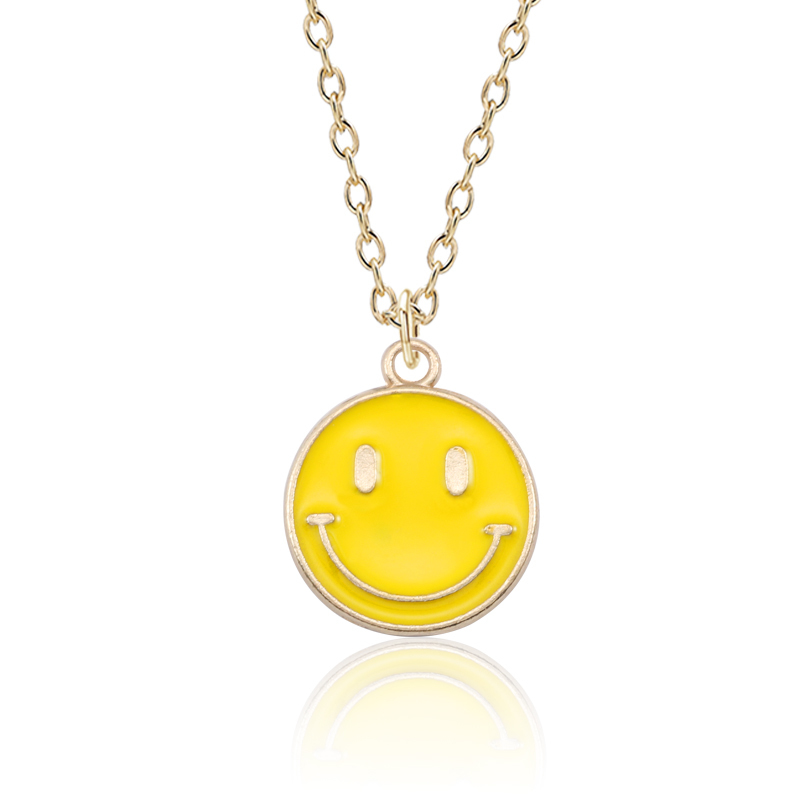 DIY Cute Emjor Face Necklace For Women Smile Expression Pendant Hip Hop Figure Necklaces&Pendants Unisex Gifts Drop Shipping