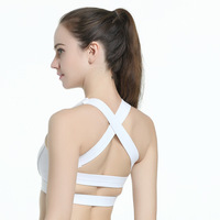 ZELLY Nouveau Design Retour Bretelles Sexy Remise En Forme Soutien-Gorge Blanc Noir Sport Femmes Bras Fil Livraison Respirant Crop Tops Workout Vêtements