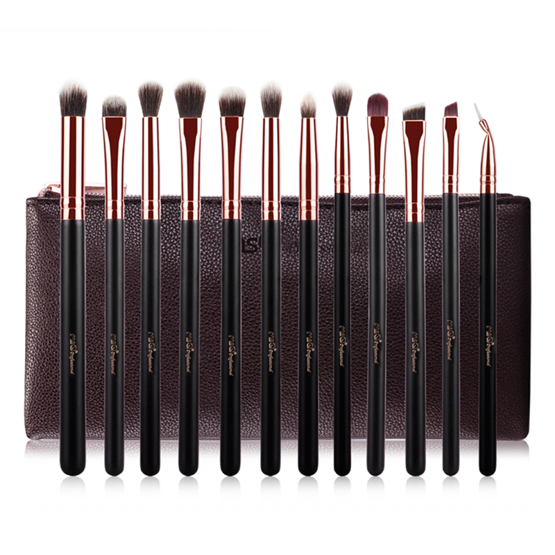 MSQ 12PCS Eyeshadow Makeup Brushes Set Pro Eye Shadow Blending Make Up Brushes Soft Eye Makeup Brushes Makeup Beauty Tool twelve makeup brushes set