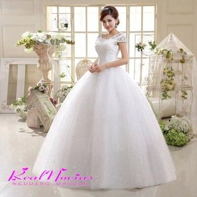 10335fc0fa2 Newly Wedding Dress Sexy Scoop Bridal Gown Fashionable Vestido De Marriage  Floor Length Organza Delay Bridal Dress DIS641A