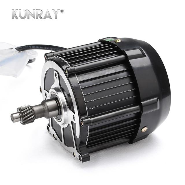 Kunray bldc 650w 48v 60v brushless dc motor three four for Brushless dc electric motors