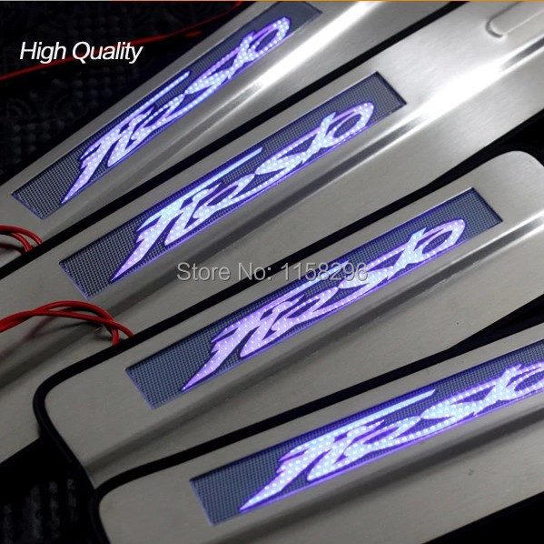 FreeShipping decorative escutcheon internal LED door sills thresholds for Ford Fiesta 2009-2014 car styling & Online Get Cheap Ford Fiesta Door -Aliexpress.com   Alibaba Group Pezcame.Com