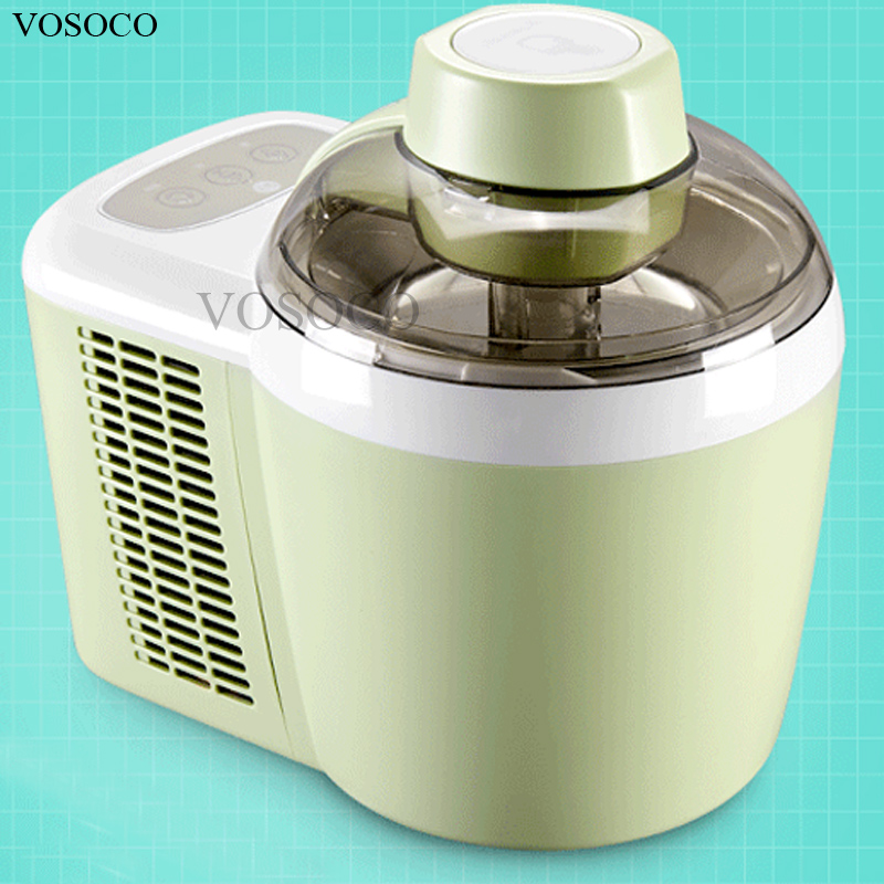 VOSOCO Ice cream machine with refrigerating household automatic fruit 600m small ice cream machine ice cream maker 90W 220V 50Hz edtid 12kgs 24h portable automatic ice maker household bullet round ice make machine for family bar coffee shop eu us uk plug