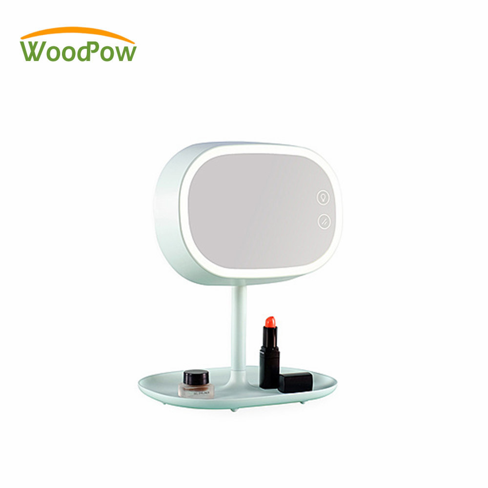 Woodpow Makeup Mirror Lamps Touch Screen Dresser Table Lamp Reading Desk Cosmetic Charging LED Night Light GF Gift Lamplet 2 in 1 usb led cosmetic makeup mirror dazzle color touch screen led mirror bedroom bedside lamp colorful table lamp mirror