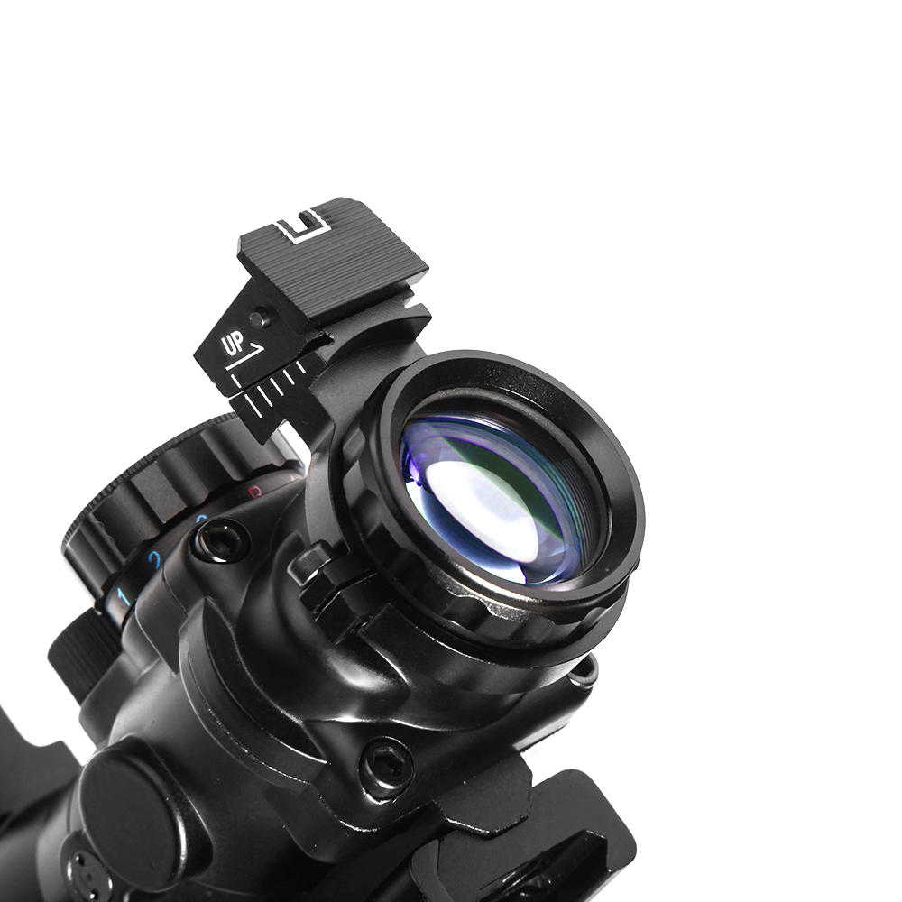 Image 5 - LUGER acog 4x32 Hunting Red Dot riflescope Reflex Tactical Optics Sight Scope With 20mm Dovetail Rail For airsoft air guns rifle-in Riflescopes from Sports & Entertainment