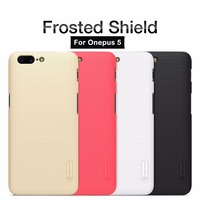 10pcs Lot Wholesale NILLKIN Frosted Shield Case For Oneplus 5 Oneplus5 Case Cover With Gift Screen