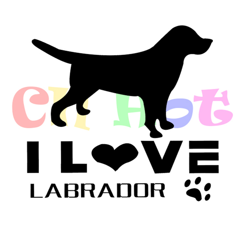 I Love Labradors Dog Car Sticker di Starprint Van, camion finestra / paraurti Die Cut Sticker ideale per i proprietari di cani riflettenti