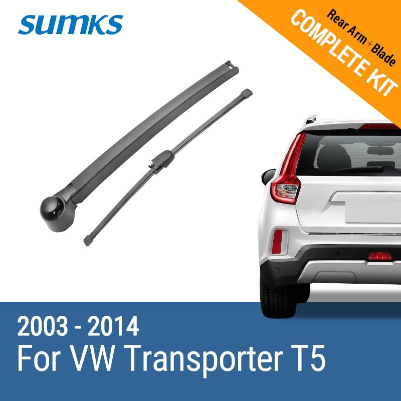 SUMKS Rear Wiper & Arm for VW Transporter T5 2003 2004 2005 2006 2007 2008 2009 2010 2011 2012 2013 2014