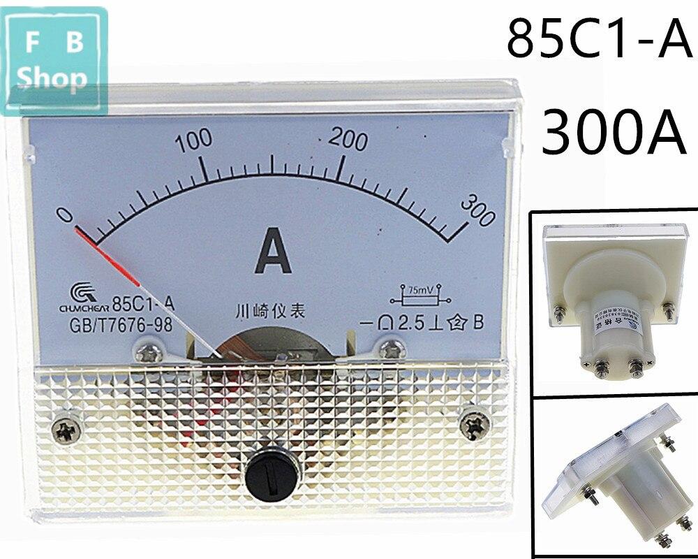 1 шт. 85C1-A 300A DC аналоговый измеритель Панель Ампер тока амметры 85C1 0-300A датчик
