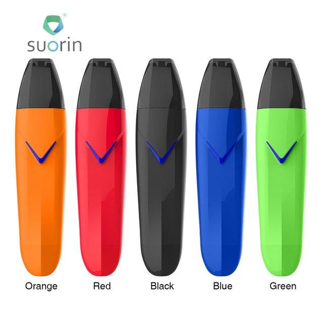 """New 430mAh Suorin Vagon Starter Kit with 2ml Cartridge & 430mAh Battery &  LED """"V"""" Shaped Fire Button MTL Vape E-cigarette Vape"""