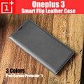 Oneplus 3 t a3010 smart cover leather flip voltar casos capa de chuva para oneplus3 fundas com sleep & wake up + slot para cartão oneplus 3 a3000
