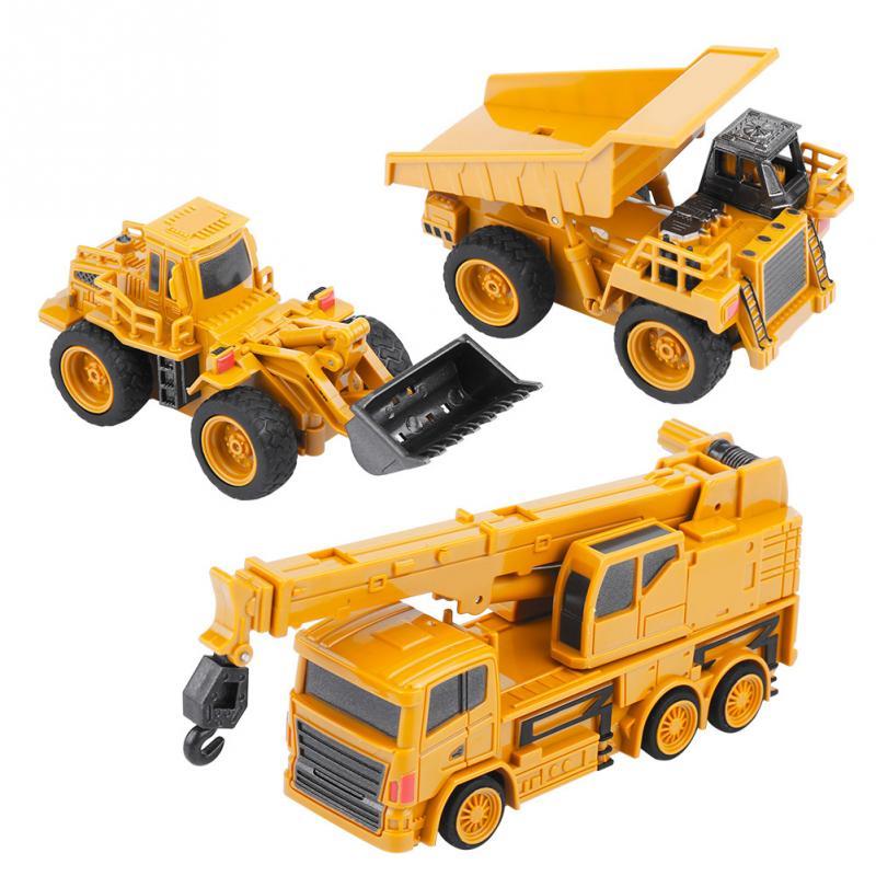 Hot Koop 1/64 Rc Graafmachine Digger Speelgoed Graafmachine/dumping Auto/crane Mini Bouw Voertuig Speelgoed Voor Kinderen Kids Gift