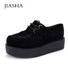 Creepers Shoes woman plus size 35-41 2017 fashion creepers platform women Flats Shoes