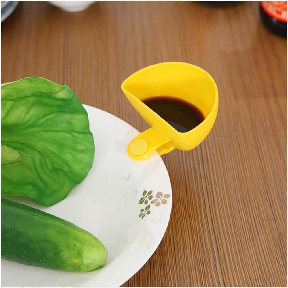 Удобная картофель фри чаша для макания 2 в 1 Снэк соус для кетчупа джема чаша для макания с зажимом