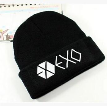 Kpop winter exo hat unisex exo planet printing Skullies & Beanies for women men gorros skullies