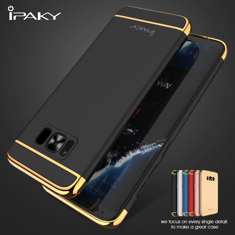 IPAKY Original Cases for Samsung Galaxy S8 S8 Fundas 3 in 1 Electroplating PC Hard Phone
