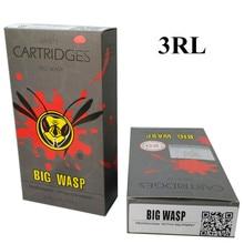 BIGWASP Gray Disposable Needle Cartridge 3 Round Liner (3RL) 20Pcs/Box