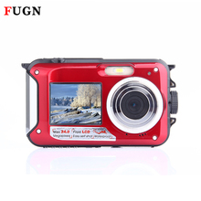 2.7 inch TFT Digital Camera Waterproof 24MP FHD 1080P Double Screen 16x Digital Zoom Portable Mini Camcorder Micro Camera CMOS