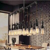Waterleiding Steampunk Vintage hanglampen voor eetkamer Bar roest rood woondecoratie Amerikaanse industriële loft opknoping licht