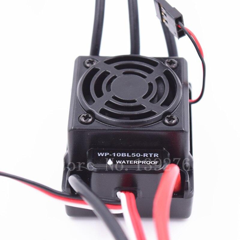 Rc 50A étanche ESC 2 S 3 S SBEC 6 V / 3A 2 - 3 S Lipo 4-9cells NiMH 2650 moteur pour 1/10 échelle modèles de voitures de contrôle à distance WP-10BL50-RTR