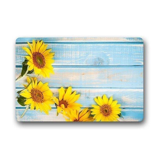 Xlingers Custom Decorative Door Mat Custom Frame with Sunflowers ...