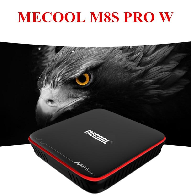 Original MECOOL M8S PRO W Android 7.1 Smart TV Box S905W CPU Set Top Box 2GB 16GB Support 2.4GHz WiFi 4K H.265 HDMI 2.0