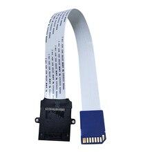 Carte SD SDHC/SDXC mâle/femelle, Flexible, 25/48/60cm, adaptateur de câble dextension pour télévision, téléphone, caméra, GPS, voiture