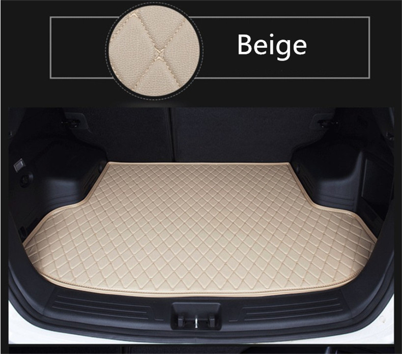 Auto Cargo Liner Car Trunk Mats For Toyota LAND CRUISER 200 2007-2016 Boot Mat High Quality Embroidery Leather Free shipping car rear trunk security shield cargo cover for volkswagen vw tiguan 2016 2017 2018 high qualit black beige auto accessories