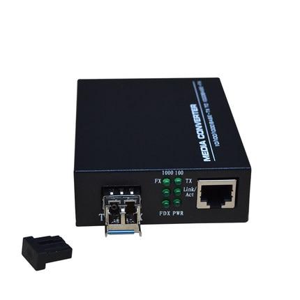 Wysokiej jakości konwerter mediów Fast Ethernet SFP 10/100 / 1000M - Sprzęt komunikacyjny - Zdjęcie 2