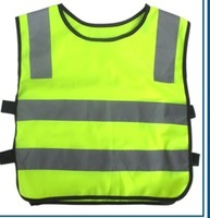 100pcs Promotion Full Body Harness Glock New Child Safety Reflective Vest Traffic Warning Clothing For Pupils Safe Fluorescent