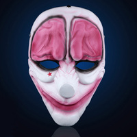 H&D Resin Mask Payday 2 Movie Crazy Heist Hoxton Joker Cosplay Classic Collection Masquerade Costume Party Cosplay