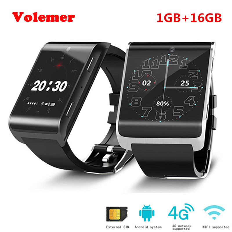 Volemer 4G Smartwatch DM2018 MTK6737 900mAh Android 6.0 WiFi GPS Bluetooth Smart Watch Health Heart Rate Monitor 696 4g smart watch dm2018 1 54 inch gps sports smartwatch android 6 0 mtk6737 1gb 16gb wifi heart rate monitor