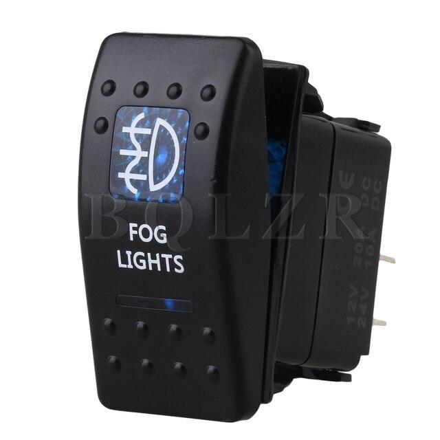 Bqlzr Dc12 24v Waterproof 5 Pin Dual Blue Fog Pattern Symbol On Off