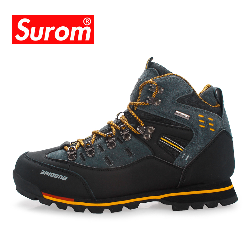 SUROM Outdoor Sport Male Adult Sneakers Men Comfortable Hiking Shoes Trail Tactical