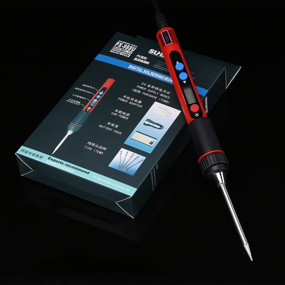 Ferro de Solda de Temperatura ajustável USB 5 V 10 W Digital LCD Soldeerbout Fer um Souder Solda do Ferro de Solda de Solda BGA ferramentas