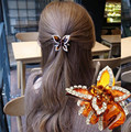 New Butterfly rhinestone crab claw clip hair accessories new headdress hairpin gripper Women's Hair Accessories gift