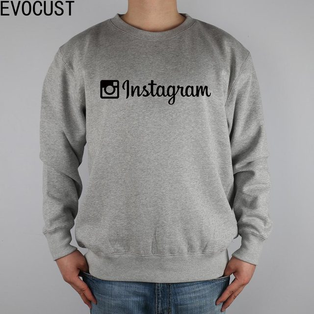 Instagram App Apple Men Sweatshirts Thick Combed Cotton In Hoodies