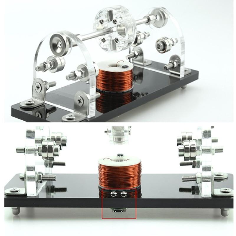 DIY Mini Hall Brushless Motor 5V 3000 6000Rpm 3 Point Magnetic Levitation High Speed Hall Sensor