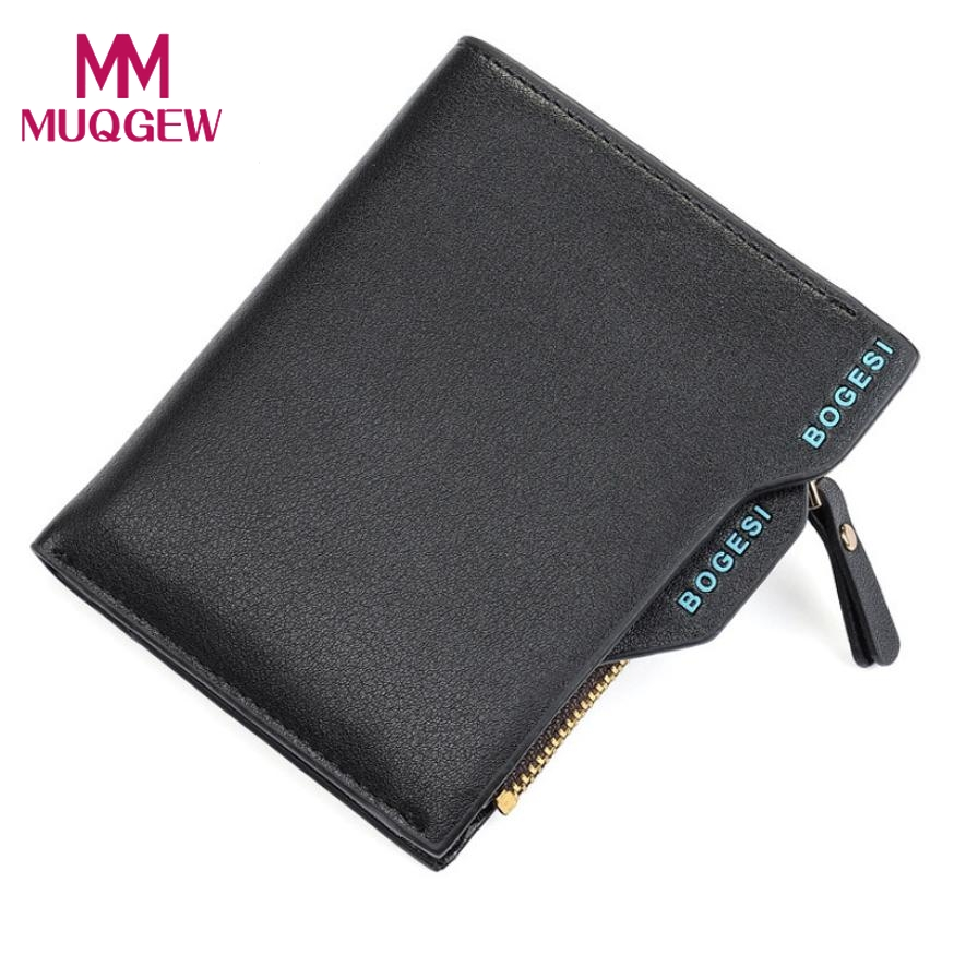 2018 Quality Guarantee Men's Faux Leather ID credit Card holder Clutch Bifold Coin Purse Wallet men's wallet portafogli