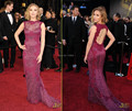 2017 Red Carpet Lace Appliques Backless Mermaid Long Sexy vestidos de fiesta Celebrity Evening Party Prom Dress Gown Custom Made