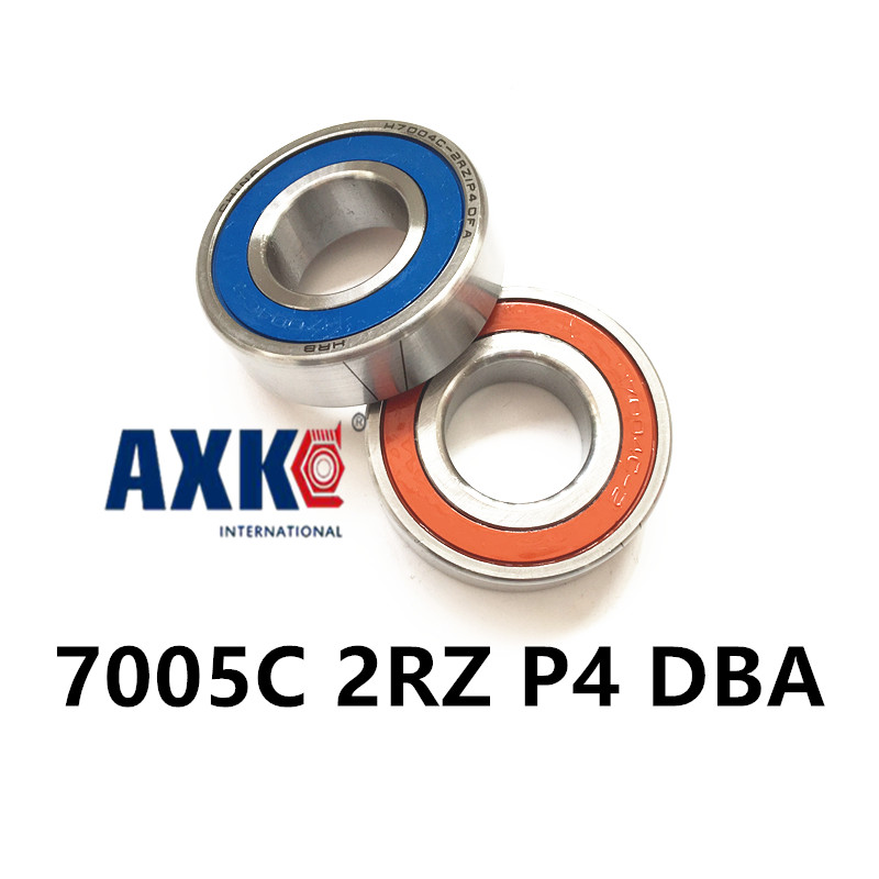 1 Pair AXK  7005 7005C 2RZ P4 DB A 25x47x12 25x47x24 Sealed Angular Contact Bearings Speed Spindle Bearings CNC ABEC-7 1 pair mochu 7005 7005c 2rz p4 dt 25x47x12 25x47x24 sealed angular contact bearings speed spindle bearings cnc abec 7